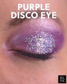 Purple Glitter Eye Makeup Tutorial - top_make_up_pintennium Purple Eye Makeup, Glitter Eye Makeup, Eye Makeup Brushes, Purple Eyeshadow, Makeup For Brown Eyes, Hair Makeup, Makeup Art, Glitter Force, Make Up Tutorials