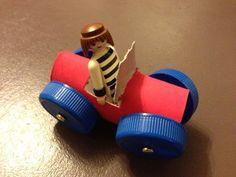 comment faire une voiture avec un rouleau de papier toilette.