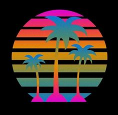 Trendy Palm Tree Tattoo With Quote Fonts New Retro Wave, Retro Waves, Kitsch, Pop Art, 80s Neon, 80s Design, Vaporwave, Dirty Dancing, Surf Art