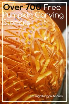 Want to make your home stand out on Halloween? Here are over 700 Free Pumpkin Carving Stencils for you can print out and carve your pumpkin with. #halloween #carvingpumpkins #freestencils #frugaldiy #frugalnavywife | Halloween | Jack O Lanterns | Pumpkin Carving Stencils | Carving Pumpkin Patterns | DIY Pumpkin Carving | Easy Patterns for Kids Diy Halloween Food, Halloween Activities For Kids, Halloween Jack, Pumpkin Carving Stencils Free, Free Stencils, Do It Yourself Projects, Do It Yourself Home, Pumpkin Carving Patterns, Easy Patterns