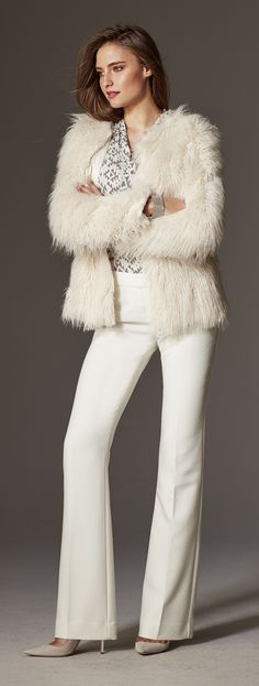 Give your look a pop with this faux fur jacket. Dress it down with denim or up with a gorgeous dress.