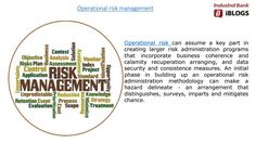 #Operationalriskmanagement is at the center of a bank's operations - incorporating hazard administration rehearses into procedures, frameworks and culture.