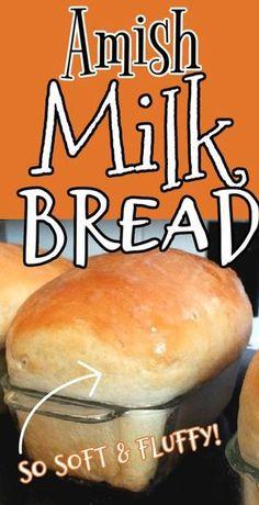 Milk Bread Recipe, Bread Maker Recipes, Amish Recipes, Cooking Recipes, Soft White Bread Recipe, Amish Sweet Bread Recipe, Homemade White Bread, Amish White Bread, Bread Recipes