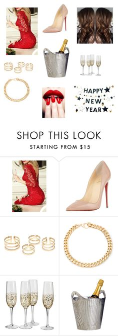 """""""#Silvester!!"""" by michelle-jovanovic ❤ liked on Polyvore featuring Christian Louboutin, Alessandra Rich, Dot & Bo and West Elm"""