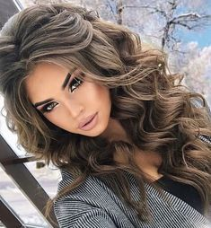 40 Perfect Wedding Hairstyles Ideas For Long Hair - Style - frisuren haare hair hair long hair short Wedding Hair And Makeup, Hair Makeup, Wedding Nails, Eye Makeup, Makeup Brushes, Trendy Hairstyles, Volume Hairstyles, Amazing Hairstyles, Date Night Hairstyles
