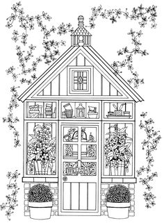 victorian house printable adult coloring page coloring