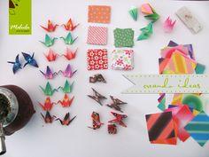 Mesa de trabajo de Malula, ideas de papel