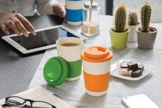Plant Fibres, Grow Organic, Coffee Cups, Bamboo, Fiber, Orange, Drinkware, Tableware, Dishwasher