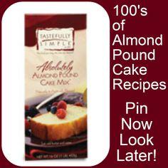 Absolutely Almond Pound Cake Mix Recipes