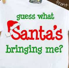 Big brother or big sister santa Christmas surprise shirt -  makes a great surprise Thanksgiving or Christmas pregnancy announcement on Etsy, $20.00