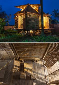 Blooming Bamboo Home by H&P Architects. H&P Architects from Vietnam have come up with this ingenious design in an effort to cope with floods of up to 3 meters high. The house is made entirely of bamboo.