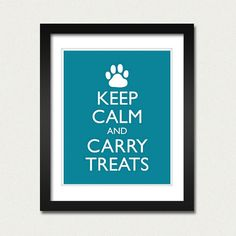 Dog Pet Poster  Keep Calm and Carry On  Keep Calm by happylandings, $10.00