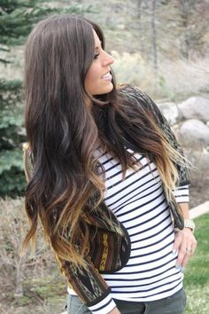 curled ombre long brown hair Wanna do the ombre style on my hair