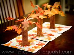 Fall tree centerpieces
