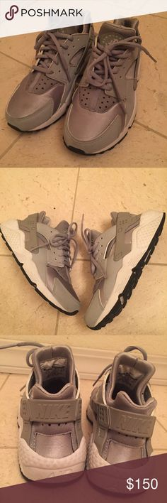 Women's Nike Huarache Wolf Grey 6.5w! Limited pair of Nike Huarache wolf grey 6.5 women's. Released last year, in EUC! Huaraches fit smaller, I'm usually a 6. Cheaper on Ⓜ️erc! Shoes Sneakers