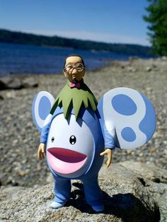 Takashi Murakami action figure and photo by Mike Leavitt