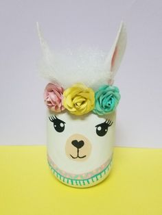 Valentine Box, Valentines For Kids, Easter Crafts, Crafts For Kids, Diy Crafts, Mason Jar Crafts, Mason Jar Diy, Llama Decor, Llama Birthday