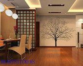 Vinyl Wall Decals,wall stickers,Wall murals, nature decals ,tree decal Decors,wall art------living room tree