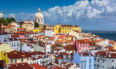 Lisbon city guide: what to see plus the best bars, restaurants and hotels - via The Guardian 08-07-2017 | Portugal's capital is bursting with culture and great places to eat, stay and party – and it's the cheapest city break destination in western Europe. Photo: Lisbon skyline at Alfama, one of the city's older districts.