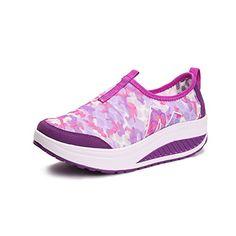 Yuanli Womens SlipOn Platform Women s Walking Shoes ShoesWorkout Sneakers  Purple     To view further for this item 139c5b0609d