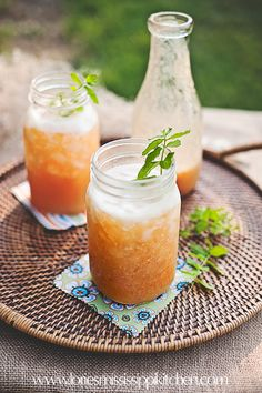 Recipe for Vanilla-Peach Cooler