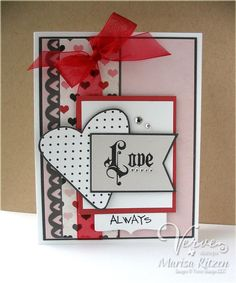 Card by Marisa Ritzen using Love Notes and Stronger Love from Verve.  #vervestamps