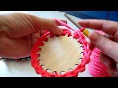 Pólófonalazz velünk! - Wood Stitch horgolható fa alap elkezdése - YouTube Ribbon Yarn, Fa, Make It Yourself, Stitch, Youtube, Blog, Shirt, Manualidades, Basket
