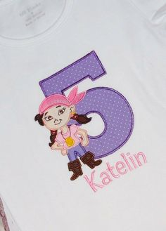 Personalized Izzy Birthday Shirt from Jake and the by bloomnbows, $28.00