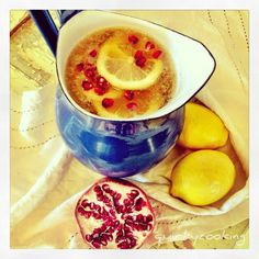 Pomegranate Lemonade, the candles will make you thirsty, so here you go.