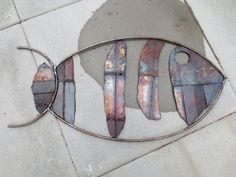 Scrap Metal Fish with paint