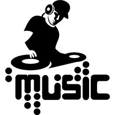 Then you will enjoy the wall decals from this category. This sticker DJ Silhouette is a great way to bring passion and joy into your room. Vinyl Music, Dj Music, Learn To Dj, Music Silhouette, Dj Images, Ambiance Sticker, Dj Logo, Music Illustration, Pop Rock