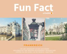 #Frankreich #France   es gibt über 40.000 Schlösser & Burgen in ganz Frankreich!   #urlaubsbox #funfact #ValdeLoire #IledeFrance #Aquitaine #Dordogne Hotels, Fun Facts, Ile De France, Travel, Family Activity Holidays, Castles, Wtf Fun Facts, Funny Facts, Interesting Facts