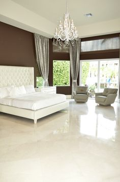 WHITE MARBLE brings value to your home, it gives a high-class look that appeals to home buyers. Crema Marfil of Valencia in south eastern Spain. Romantic Evening, Floor Decor, Stone Tiles, High Class, White Marble, Flooring, Bed, Furniture, Home Decor