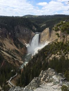 Yellowstone Waterfall, Spaces, Outdoor, Outdoors, Waterfalls, Outdoor Games, Rain, Outdoor Life