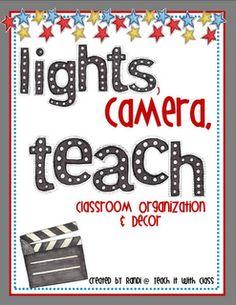 Teach it With Class: Classroom Organization & Decor Stars Classroom, Disney Classroom, Classroom Setup, Classroom Design, Future Classroom, School Classroom, Classroom Organization, Movie Classroom, Minion Classroom