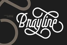 Brayline by A.Budianto on @creativemarket #sponsored #graphicdesign #graphicassets #art #design #font #typography #calligraphy #lettering