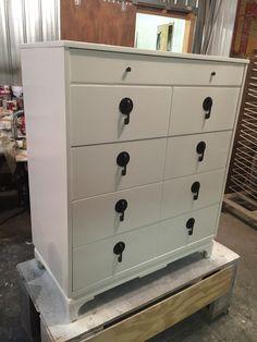 Mid century dresser gloss white