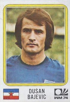 Dusan Bajevic - Yugoslavia - München 74 World Cup sticker 196 Panini Sticker, 1974 World Cup, Football Stickers, World Cup Final, Album, Vignettes, Germany, Baseball Cards, Sports