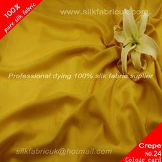 12mm silk crepe de chine fabric-golden  http://www.silkfabricuk.com/12mm-silk-crepe-de-chine-fabricgolden-p-353.html