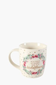 Wildflower Porcelain Decal Mug R26.00