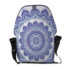 Elegant Indian Ornamental Vintage Design Purple Courier Bag
