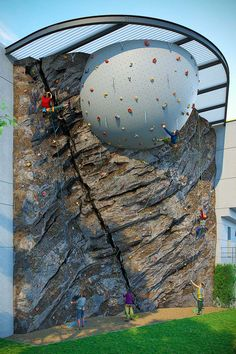 illustration for a mixed construction climbing wall project , made of artificial rockwork and fiberglass. Home Climbing Wall, Indoor Climbing, Rock Climbing Gear, Workout Stations, Bouldering Wall, Climbing Outfits, Garden Park, Forest Park, Climbers