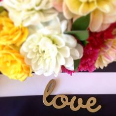 Happy Saturday! Sharing another peek at the shoot I put together for @napavalleylinens - it's the little details that really make me happy like this gold sign with the navy and white stripes and bright flowers! #wed #engaged #wedding #love #gold #floraldesign #flowers #floral #stripes #preppy #colorful #eventdesign #heydesignlady #flower