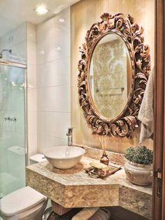 Banheiro de um apartamento, de 70 m². Projeto de Only Design de Interiores.