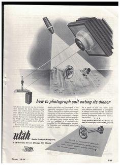Salt Spray Test Of Components in 1944 Utah Radio Products Co World War II Ad #UtahRadioProductsCo