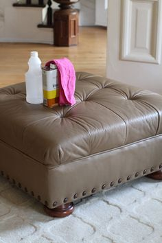 Leather furniture can last for decades if properly taken care of. Prolong the life of your piece by using this simple, all-natural leather conditioner.