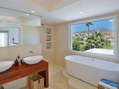6 bathrooms with great views at this modern design villa for sale, front line Los Naranjos Golf, Listing ID 1197, Nueva Andalucía, Marbella, Costa del Sol, Spain.