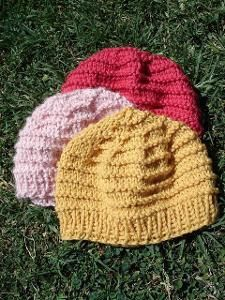 Purl Stripes Baby Hat