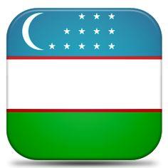 Bandeira do Uzbequistao