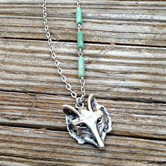 Wolf Necklace  Silver Plated  Wolf Pendant  by jewelrybycarmal, $21.00